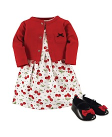 Hudson Baby Dress, Cardigan and Shoes, 3-Piece Set, 0-18 Months