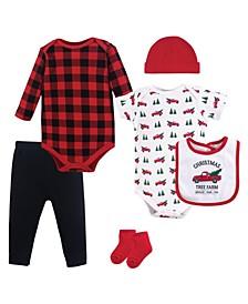Bodysuits, Pants, Socks, Bibs and Headbands, 6-Piece Set, 0-12 Months