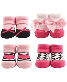 Hudson Baby Socks Gift Set, 4-Pack, 0-9 Months