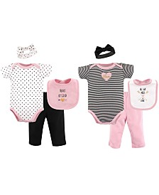 Hudson Baby Grow With Me Clothing Gift Set, 8-Piece, 0-6 Months
