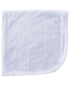 Organic Cotton Receiving/Swaddle Blanket, White, One Size
