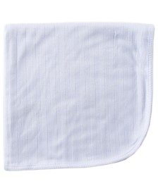 Touched By Nature Organic Cotton Receiving/Swaddle Blanket, White, One Size