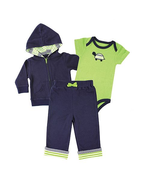 Baby Vision Yoga Sprout Hoodie, Bodysuits and Pants, 3-Piece Set, 0-24 Months