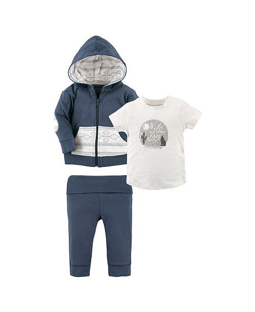 Baby Vision Yoga Sprout Toddler Hoodie, Tee Top and Pants, 3-Piece Set, 2T-5T