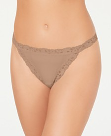 b.tempt'd Women's Insta Ready Lace Trim Thong 976229