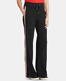 Lauren Ralph Lauren Petite Contrast-Striped Sweatpants