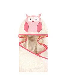 Unisex Baby Animal Face Hooded Towel, Modern Owl 1-Pack, One Size