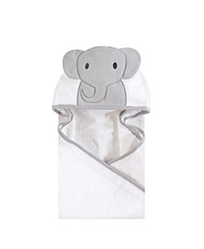 Unisex Baby Animal Face Hooded Towel, Modern Elephant 1-Pack, One Size
