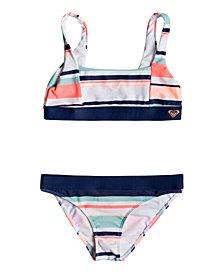 Roxy Girls Happy Spring Athletic Bikini Set