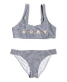 Roxy Girls Surfing Free Athletic Bikini Set