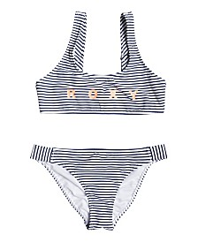 Roxy Girls Surfing Free Athletic Bikini Set