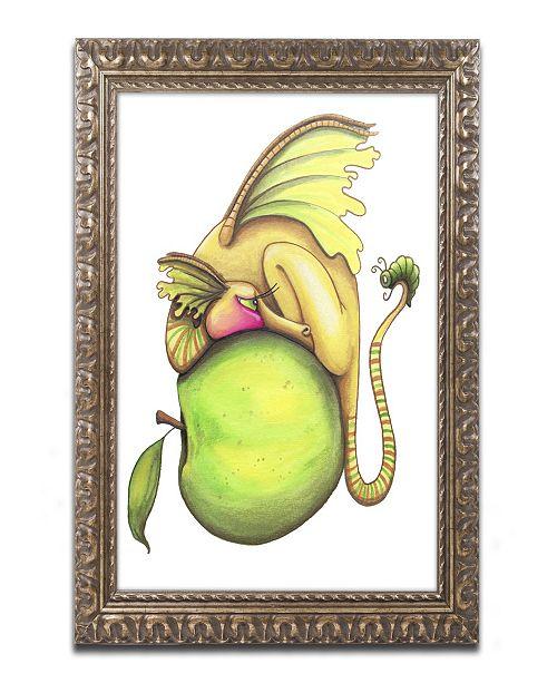 """Trademark Global Jennifer Nilsson Golden Delicious-Dragon Ornate Framed Art - 11"""" x 14"""" x 0.5"""""""
