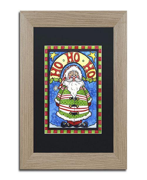 """Trademark Global Jennifer Nilsson HoHoHo Matted Framed Art - 16"""" x 20"""" x 0.5"""""""