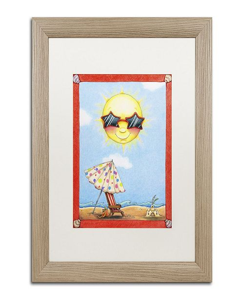 "Trademark Global Jennifer Nilsson Fun in the Sun Matted Framed Art - 16"" x 20"" x 0.5"""