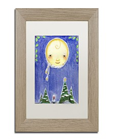 "Jennifer Nilsson Holiday Moon Matted Framed Art - 11"" x 14"" x 0.5"""