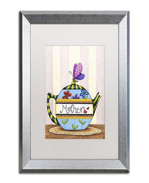 "Trademark Global Jennifer Nilsson Mother's Tea Matted Framed Art - 11"" x 14"" x 0.5"""
