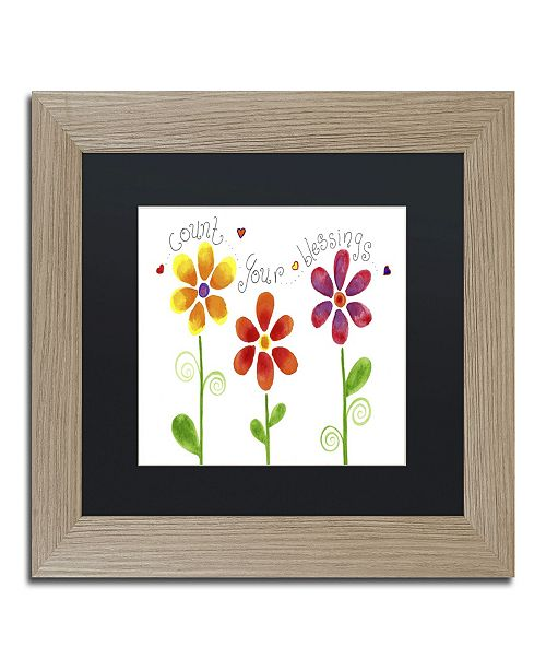 "Trademark Global Jennifer Nilsson Count your Blessings Matted Framed Art - 11"" x 14"" x 0.5"""