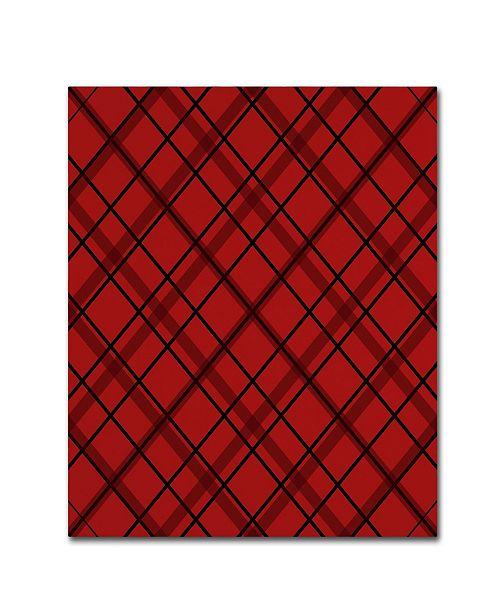 "Trademark Global Jennifer Nilsson Red Diamond Plaid 2 Canvas Art - 24"" x 32"" x 2"""
