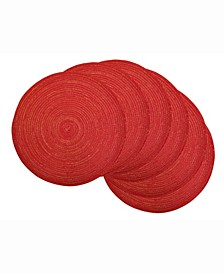 Variegated Round Polypropylene Woven Placemat, Set of 6