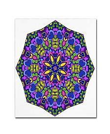"Kathy G. Ahrens Sublime Sunshine Mandala Canvas Art - 11"" x 11"" x 0.5"""