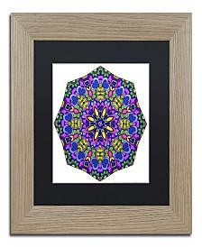 "Kathy G. Ahrens Sublime Sunshine Mandala Matted Framed Art - 35"" x 35"" x 2"""