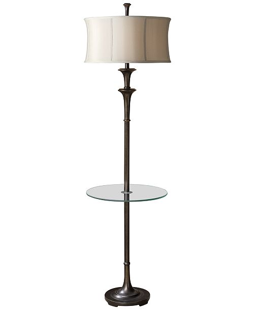 Uttermost Brazoria Floor Lamp with Tray Table