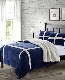 Dalton Queen Sherpa 3 Piece Comforter Set
