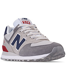 New Balance Men's 574 Varsity Casual Sneakers from Finish Line