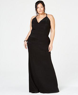 Emerald Sundae Trendy Plus Size Lace Racerback Gown