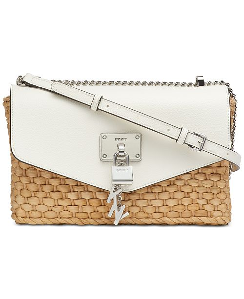 DKNY Elissa Woven Flap Shoulder Bag, Created for Macy's