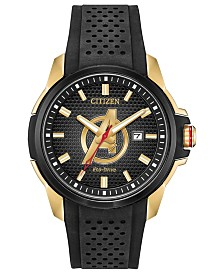 Marvel by Citizen Eco-Drive Men's Avengers Black Strap Watch 45mm