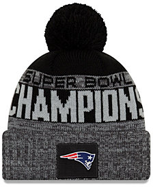 New Era New England Patriots Super Bowl LIII Champ Parade Pom Knit Hat