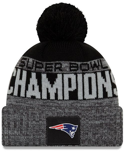 new style 79590 4512a ... New Era New England Patriots Super Bowl LIII Champ Parade Pom Knit Hat  ...