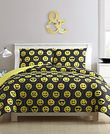 Facey Emoji 4-Pc. Comforter Sets
