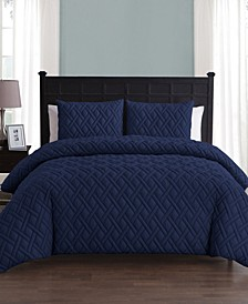 Lattice Embossed 5 Piece Twin Bed In A Bag
