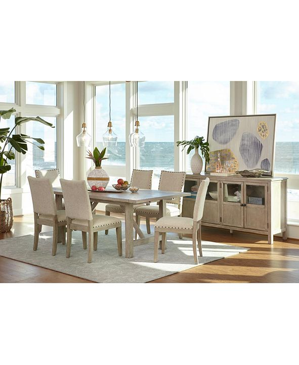 Furniture Parker Dining Furniture, 7-Pc. Set (Table & 6 Side Chairs), Created for Macy's