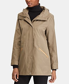 Lauren Ralph Lauren Petite Faux-Leather-Trim Anorak Jacket