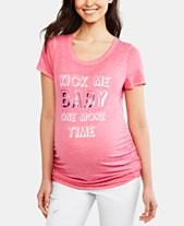 9edddb8ac8e25 Motherhood Maternity Kick Me Baby One More Time™ Maternity Graphic Tee