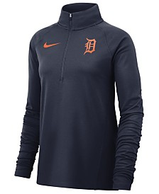 Nike Women's Detroit Tigers Half-Zip Element Pullover