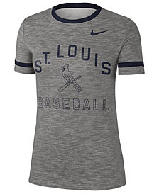 Nike Women's St. Louis Cardinals Slub Crew Ringer T-Shirt