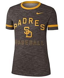 Women's San Diego Padres Slub Crew Ringer T-Shirt