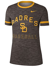 Nike Women's San Diego Padres Slub Crew Ringer T-Shirt
