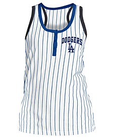 Women's Los Angeles Dodgers Pinstripe Tank Top