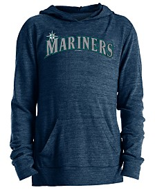 5th & Ocean Big Girls Seattle Mariners Tri-Blend Pullover Hoodie