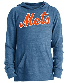 5th & Ocean Big Girls New York Mets Tri-Blend Pullover Hoodie
