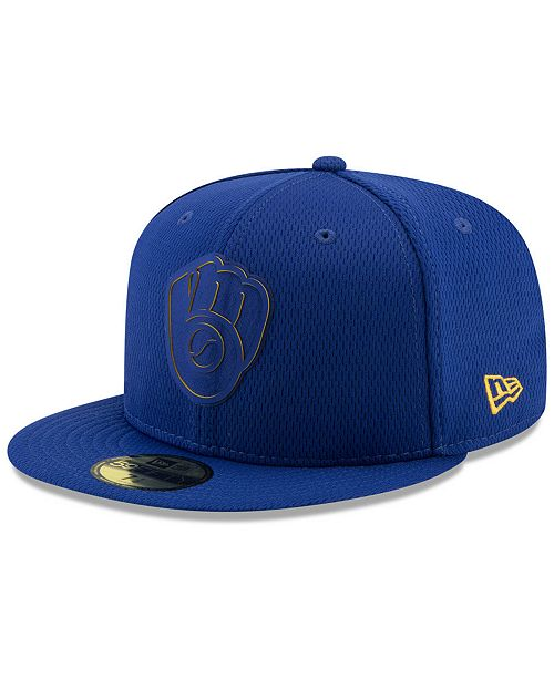 hot sale online 2e3a7 f1c6b ... New Era Milwaukee Brewers Clubhouse 59FIFTY-FITTED Cap ...