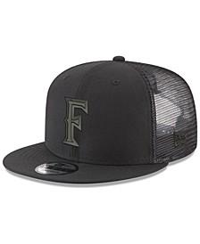Cal State Fullerton Titans Black on Black Meshback Snapback Cap
