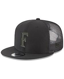 New Era Cal State Fullerton Titans Black on Black Meshback Snapback Cap