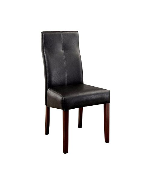 Benzara Contemporary Side Chair - Black - Set Of 2