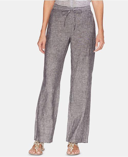 9ca9713585 Vince Camuto Linen Drawstring-Waist Pants   Reviews - Pants   Capris ...
